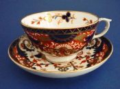 Derby Porcelain Works 'King's Pattern' Tea Cup and Saucer c1820 #2